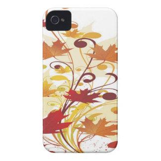 Colorful autumn floral design iPhone 4 case