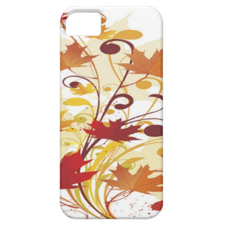 Colorful autumn floral design iPhone 5 cover