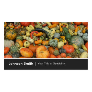 Colorful Autumn Harvest Gourd Pumpkins Corn Double-Sided Standard Business Cards (Pack Of 100)