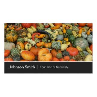 Colorful Autumn Harvest Gourd Pumpkins Corn Pack Of Standard Business Cards