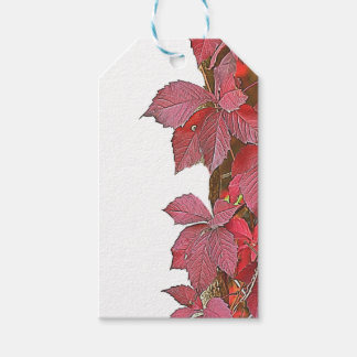 colorful autumn leaf gift tags