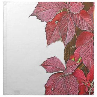colorful autumn leaf napkin
