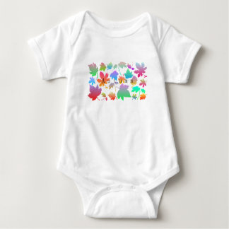 Colorful autumn leaves baby bodysuit