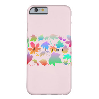 Colorful autumn leaves barely there iPhone 6 case