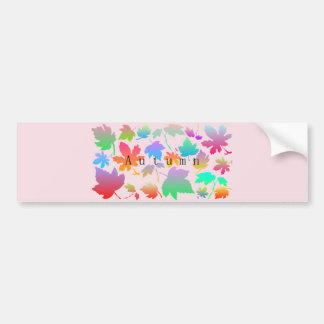 Colorful autumn leaves bumper sticker