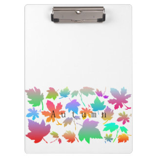 Colorful autumn leaves clipboard