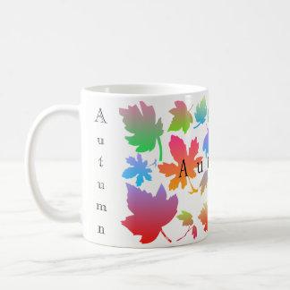 Colorful autumn leaves coffee mug