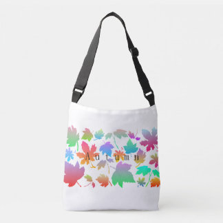 Colorful autumn leaves crossbody bag