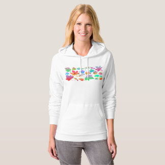 Colorful autumn leaves hoodie
