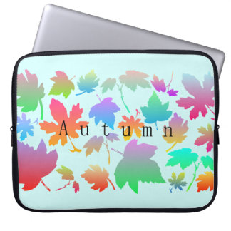 Colorful autumn leaves laptop sleeve