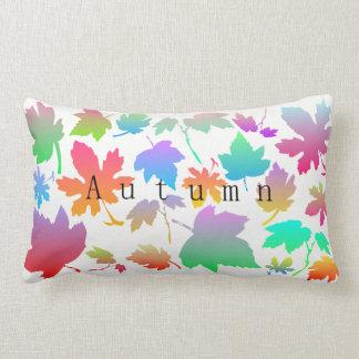 Colorful autumn leaves lumbar cushion