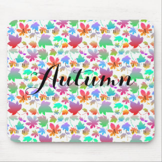 Colorful autumn leaves mouse mat
