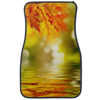 Colorful autumn leaves reflecting in the water 2 car mat