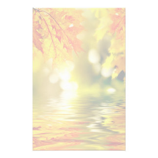 Colorful autumn leaves reflecting in the water 2 customized stationery