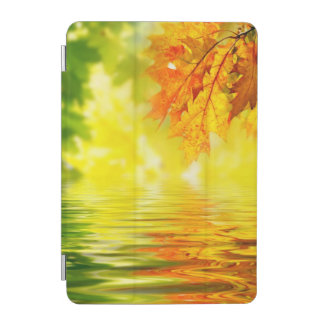 Colorful autumn leaves reflecting in the water iPad mini cover