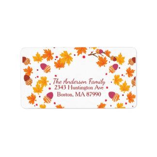 Colorful Autumn Leaves Return Address Label