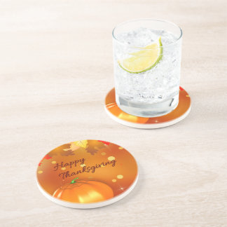 Colorful Autumn Leaves - Thanksgiving Coaster