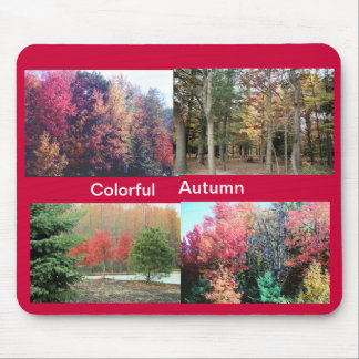 colorful autumn mouse pad