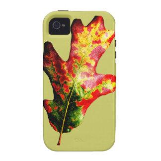 Colorful Autumn Oak Leaf iPhone 4 Cover