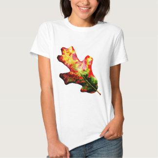 Colorful Autumn Oak Leaf T Shirt