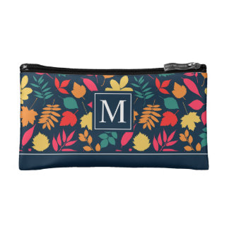Colorful Autumn Seamless Ditzy | Cosmetic Bag