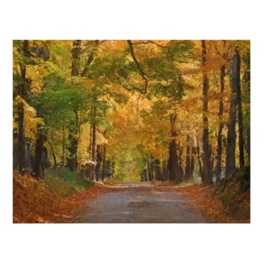 Colorful Autumn Stroll thought the Trees Personalized Flyer