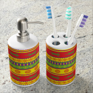 Colorful Aztec Abstract Pattern Toothbrush Holder