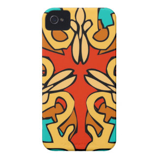 Colorful Aztec Art iPhone 4 Cases