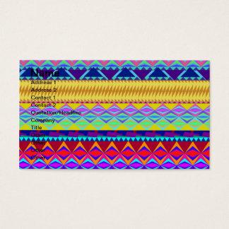Colorful Aztec Design Business Card