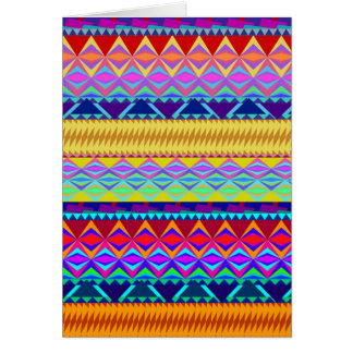 Colorful Aztec Design Card