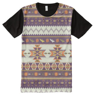 Colorful aztec pattern All-Over print T-Shirt