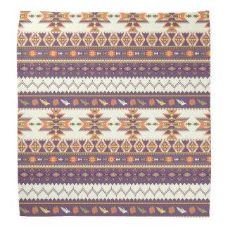 Colorful aztec pattern bandana