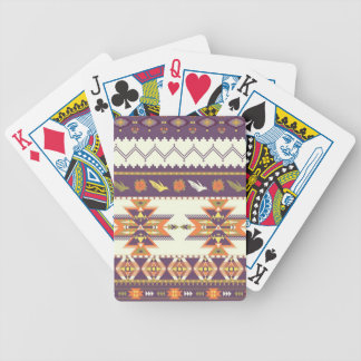 Colorful aztec pattern bicycle playing cards