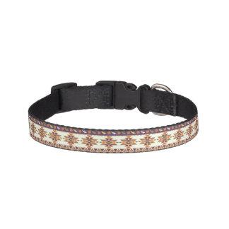 Colorful aztec pattern pet collar