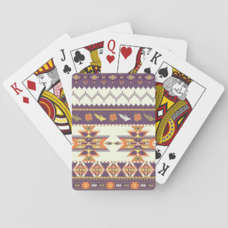 Colorful aztec pattern playing cards