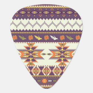 Colorful aztec pattern plectrum