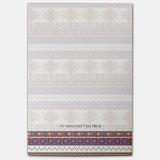 Colorful aztec pattern post-it notes