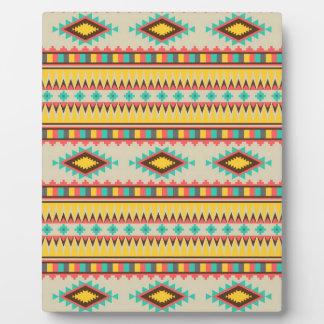 Colorful Aztec Tribal Native American Diamonds Plaque