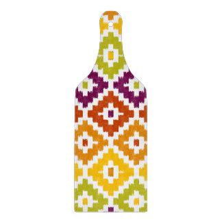 Colorful Aztec Tribal Print Ikat Diamond Pattern Cutting Board
