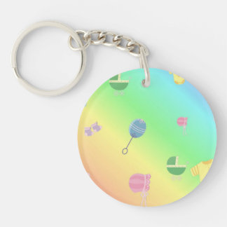 Colorful Baby Toys Key Ring
