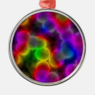 Colorful bacteria Silver-Colored round decoration