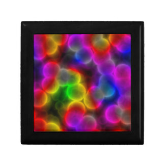 Colorful bacteria small square gift box