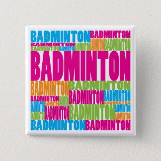 Colorful Badminton 15 Cm Square Badge