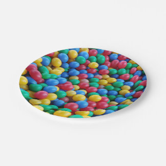 Colorful Ball Pit Balls Kids Play 7 Inch Paper Plate