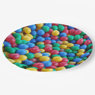Colorful Ball Pit Balls Kids Play 9 Inch Paper Plate