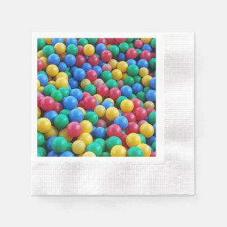 Colorful Ball Pit Balls Kids Play Disposable Napkins