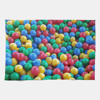 Colorful Ball Pit Balls Kids Play Tea Towel