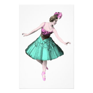 Colorful Ballerina Stationery