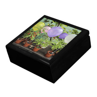 Colorful ballon flowers jewelry boxes