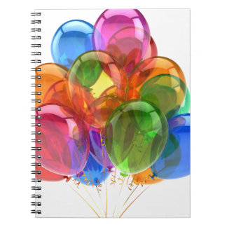 Colorful Ballons Spiral Notebooks